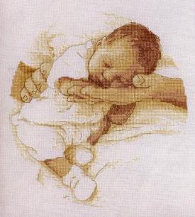Схема для вышивки спящие дети