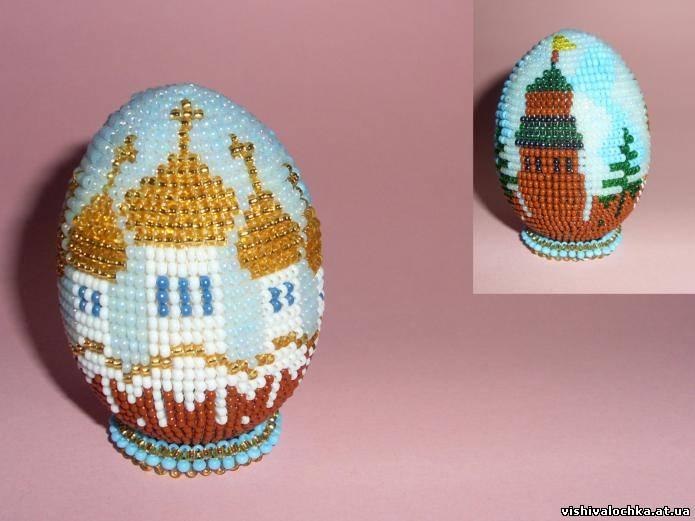 Вязание из бисера пасхальные яйца